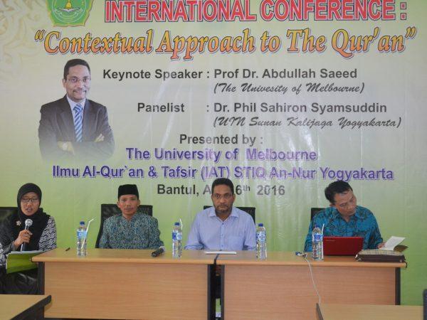 Seminar Internasional Bersama Prof. Dr. Abdullah Saeed University of Melbourne dan Dr. Phil. Sahiron Syamsudin