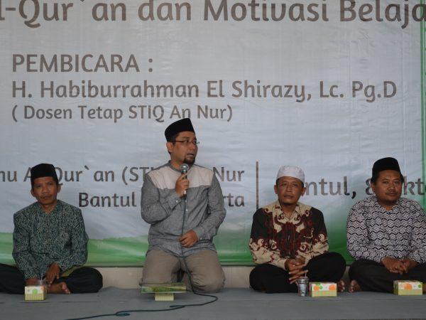 Kuliah Umum dan Pengangkatan Habiburrahman El Shirazy sebagai Dosen Tetap IIQ An Nur Yogyakarta