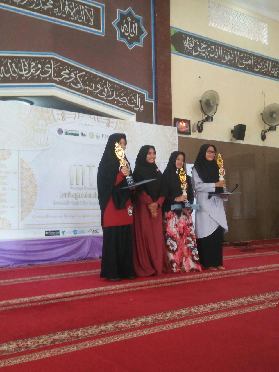 Korp Dakwah Mahasiswa IIQ An Nur Meraih Juara 2 Hifzil Qur'an Pada MTQ-VI Se-DIY dan Jateng