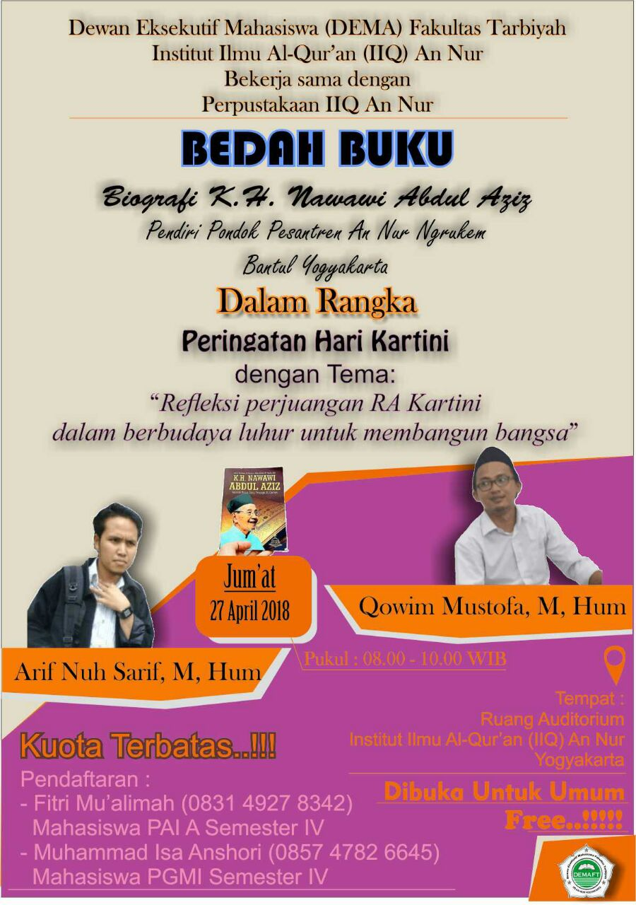 Bedah Buku Biografi KH. Nawawi Abdul Aziz