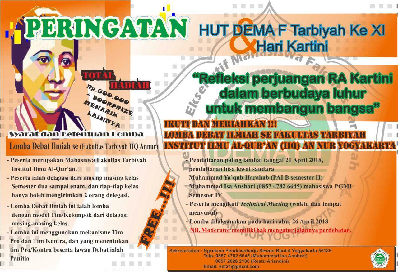 Lomba Debat Ilmiah dalam Rangka Memperingati Hari Kartini