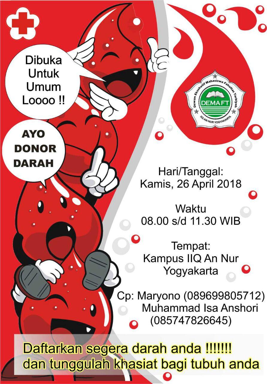 Donor Darah Menyambut Hari Kartini DEMA F Tarbiyah
