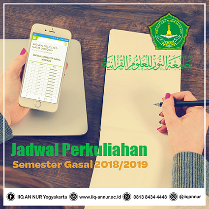 Jadwal Semester Gasal 2018/2019