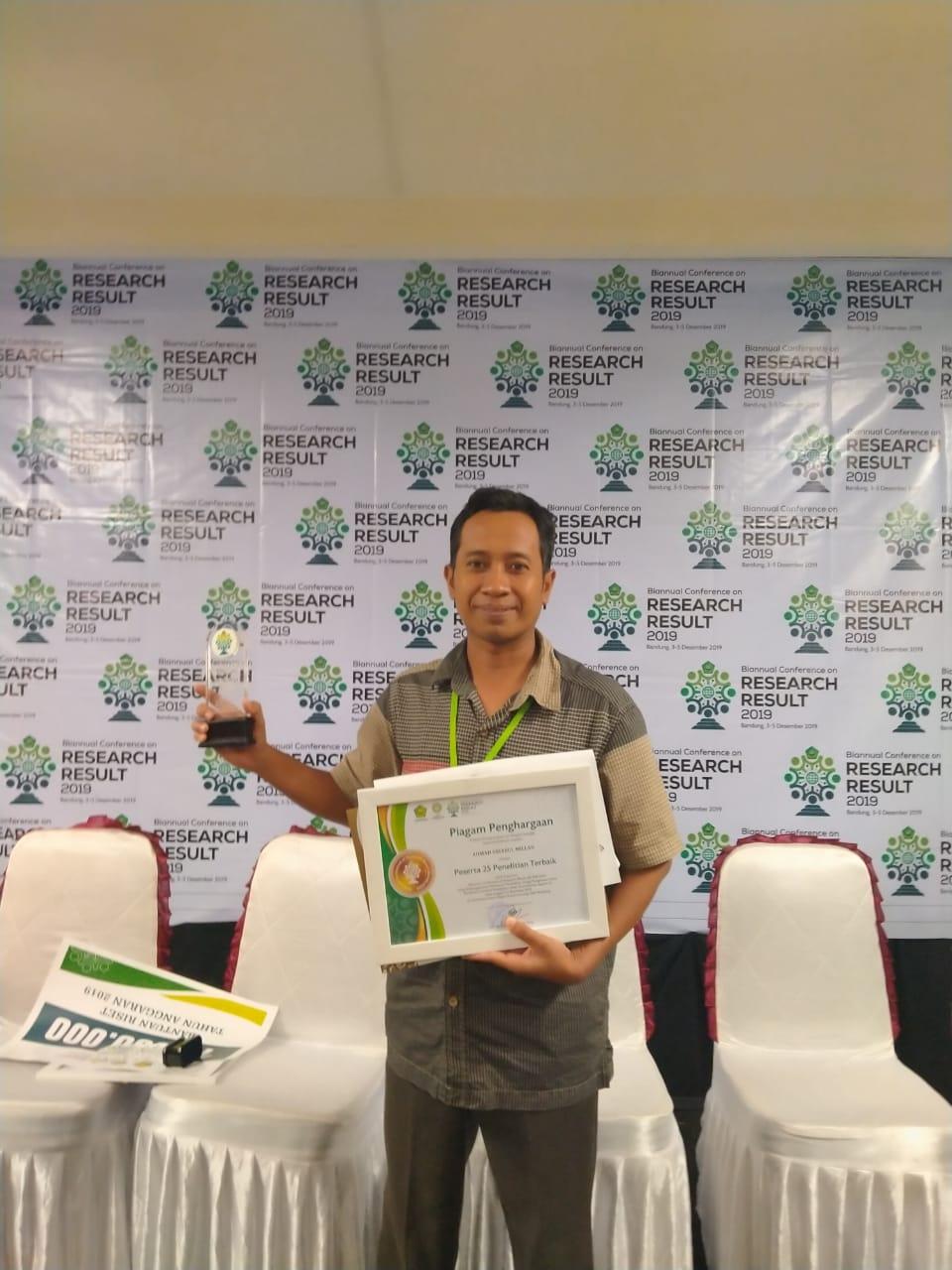 Dosen IIQ An-Nur Yogyakarta Raih Penghargaan Peneliti Terbaik Nasional 2019