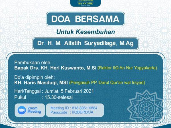 Doa Bersama Untuk Kesembuhan Dr. H. Alfatih Suryadilaga