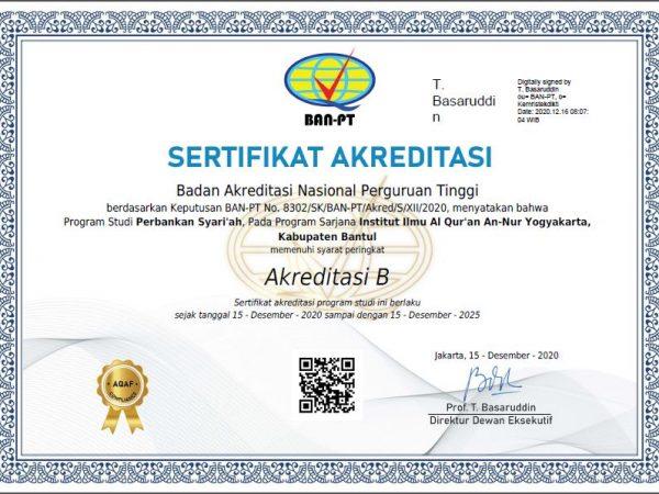 SK Akreditasi Perbankan Syariah
