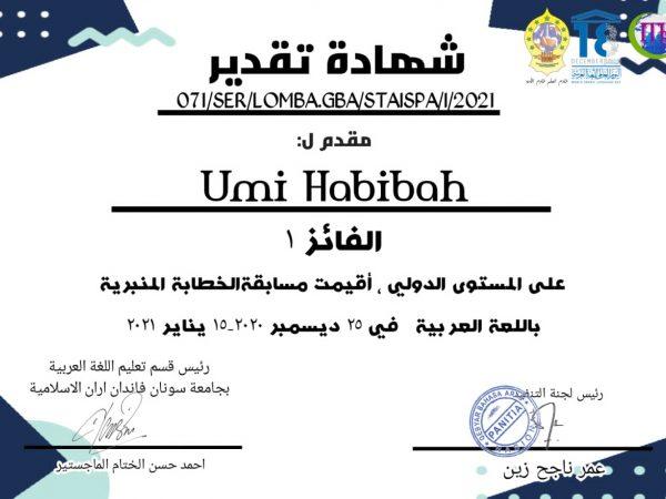 Juara I Pidato Bahasa Arab